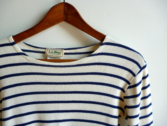 Vintage l l bean french sailor 39 s boat neck shirt for Striped french sailor shirt