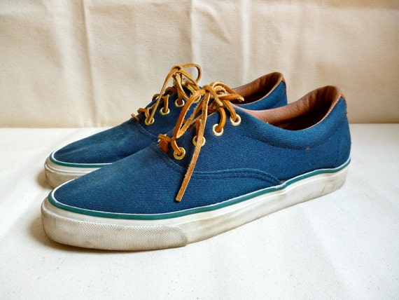 reserved for james vintage gh bass navy canvas deck shoes