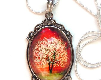 Blazing Spirits -- Wearable Art Cameo Necklace