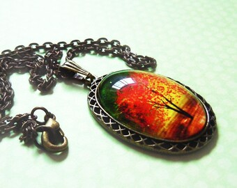 Twilight -- Wearable Art Cameo Necklace