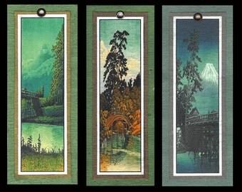 Bridge Scene Bookmarks by Hasui bmls003