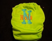 Personalized embroidered monogram cloth pocket diaper