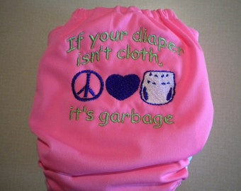 Cloth or Garbage Embroidered Cloth Pocket Diaper