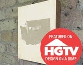 I Love Seattle 8x10 Wood Block Art Print - Featured on HGTV Design on a Dime