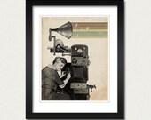 The Music Maker - 8x10 Art Print - Music Art - Steampunk - Vintage Art