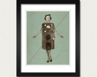 Her New Dress 8x10 Vintage Art Print