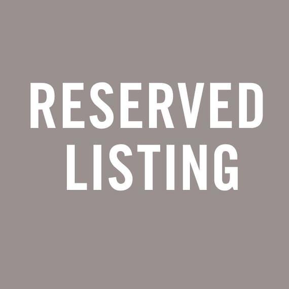 Reserved for Jhendricks