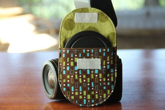 Camera Strap Lens Cap Pocket - 77mm