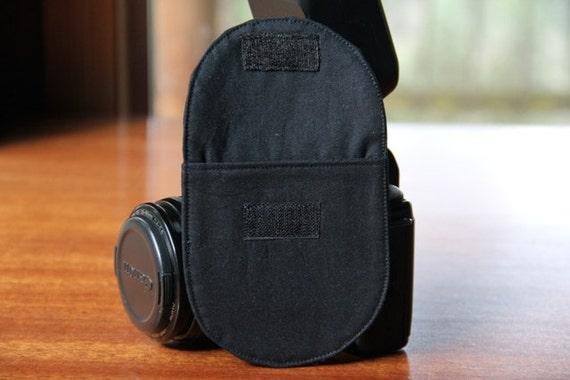 Camera Lens Cap Pocket - holds up to 77mm - Choose Custom Fabrics