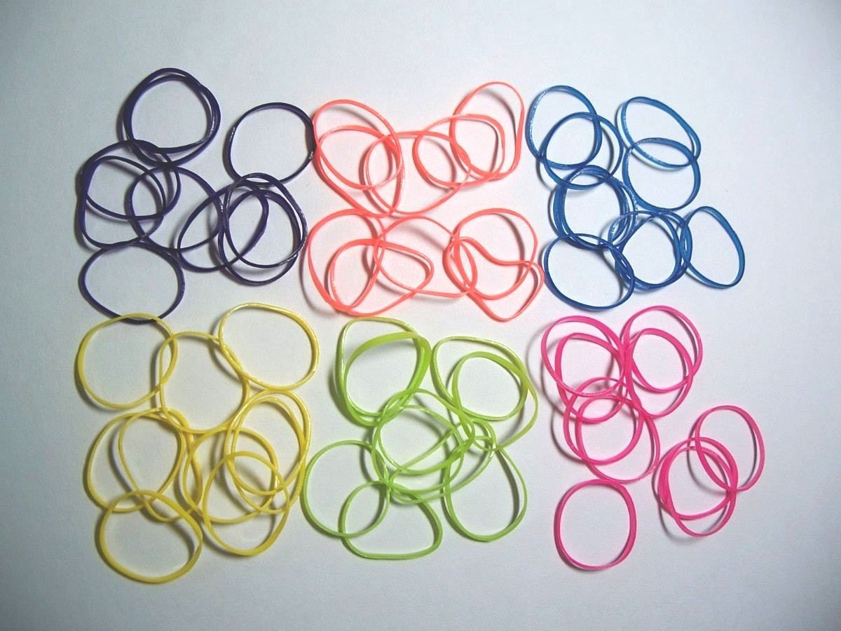 Mini Small Colored Rubber Bands For Crafting 120 Pcs