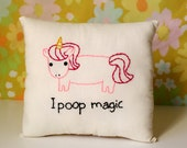 Unicorn Pillow - Magical Pooping Unicorn