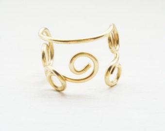 Ear Cuff Gold Swirl Ear Cuff Small Ear Cuff Ear Wrap Cartilage
