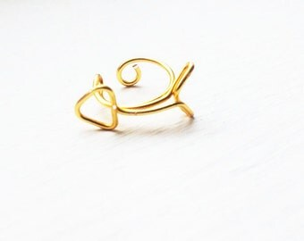 Ear Cuff Gold Arrow Hunger Games Inspired Ear Wrap Stud Cartilage