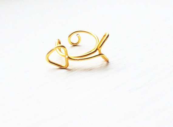 Ear Cuff Gold Arrow Hunger Games Inspired Ear Wrap Stud Cartilage
