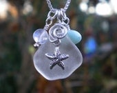 Of the Sea - Glass - Starfish - Charm - Pendant - Necklace