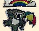 Vintage 80's BJ Prism Koala Bear Sticker