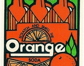 Vintage 80's Mello Smellos ORANGE Crush Soda Scratch and Sniff Sticker