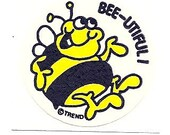 Vintage 80's Trend Matte Bee HONEY Scratch and Sniff Sticker