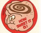Vintage 80's Trend Matte CINNAMON Roll Scratch and Sniff Sticker