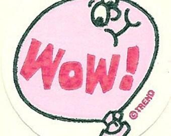 Vintage 80's Trend Matte Wow BUBBLEGUM Scratch and Sniff Sticker