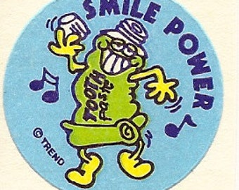 Vintage 80's Trend Matte MINT Toothpaste Scratch and Sniff Sticker