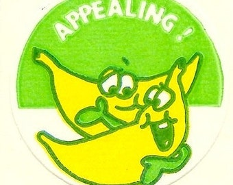 Vintage 80's Trend Matte BANANA Scratch and Sniff Sticker