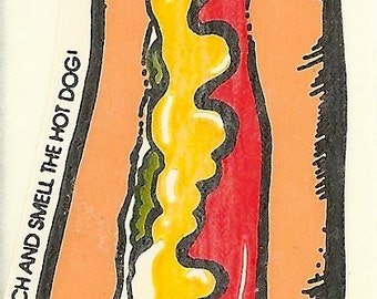 Vintage 80's Mello Smellos HOT DOG Scratch and Sniff Sticker