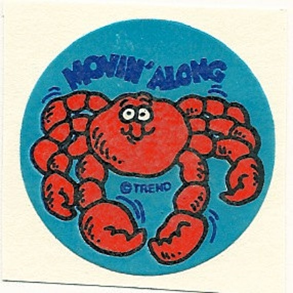 Vintage 80's Trend Matte CRAB Scratch and Sniff Sticker