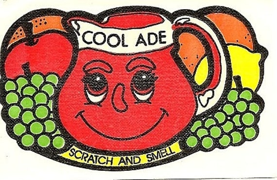 Vintage 80's Mello Smellos COOL ADE Scratch and Sniff Sticker