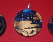 Japanese Painted Pendants
