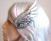 Silver wing hair clip ( brass or silver ) LEFT SIDE