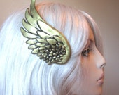Gold wing hair clip (brass or silver ) RIGHT SIDE