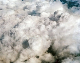 Above - 8 x 12 Fine Art Photographic Print. Dreamy sky, clouds. Home decor.