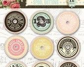 Now Shipping Pink Paislee - Pink Paislee - London Market Wood Spool Buttons