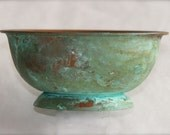 Handmade Vintage Patina Copper Bowl