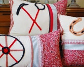 Cowgirl vintage chenille pillow collection