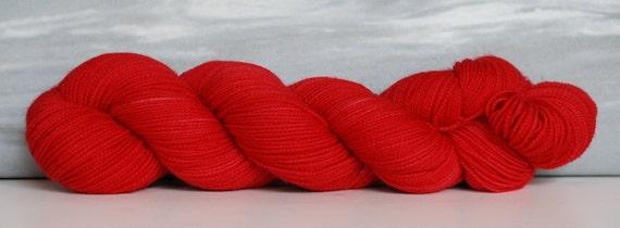 Indieway Red:  80/20 First-String PLUS SW Merino/Nylon