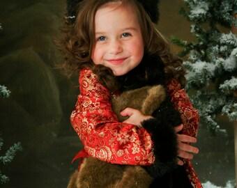 Renoir Girl in Red Brocade