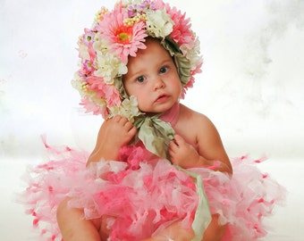 Flower Bonnet & TuTu Set