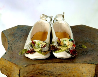 Pale Green Hydrangea Ballet Slippers