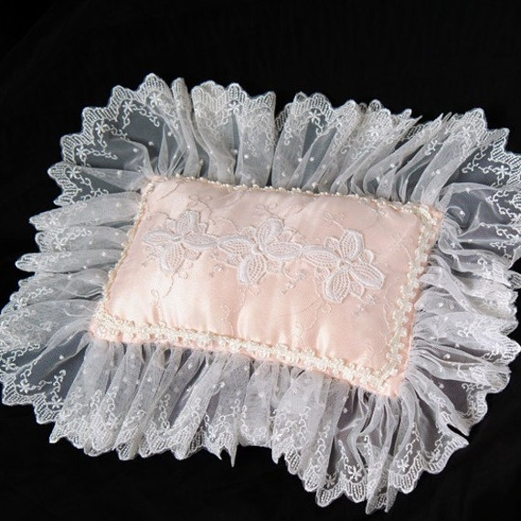 Peach Victorian Pillow