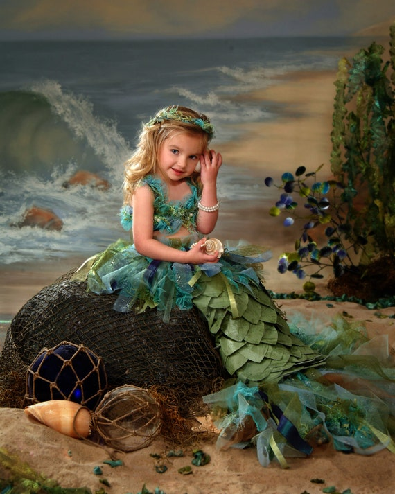 Mermaid costume, the ultimate in a little girls costume.