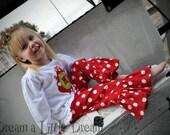 Red&White PolkaDot Ruffle Pants sizes 12m-6