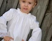Just A Little Lace Peasant Top sizes 12m-6