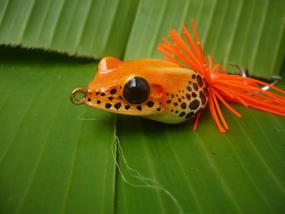 Handmade - Small Blue Poison Frog TopWater Fishing Lure