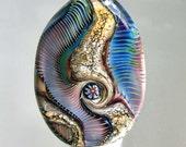 alexbeads Technicolour Lampwork Glass Bead (1) SRA