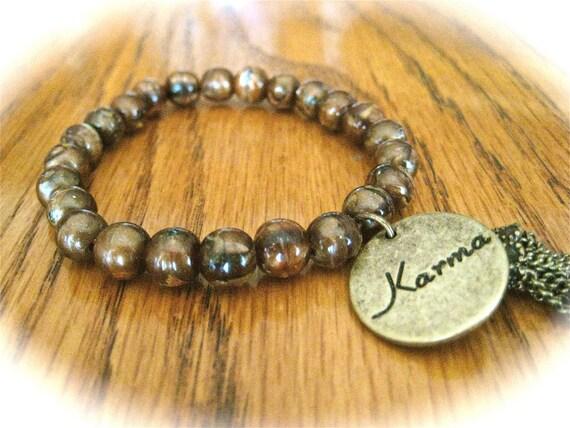 Bohemian Karma Charm Bracelet