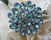 RESERVED LISTING- Vintage Turquoise Blue Bridal Hair Pin