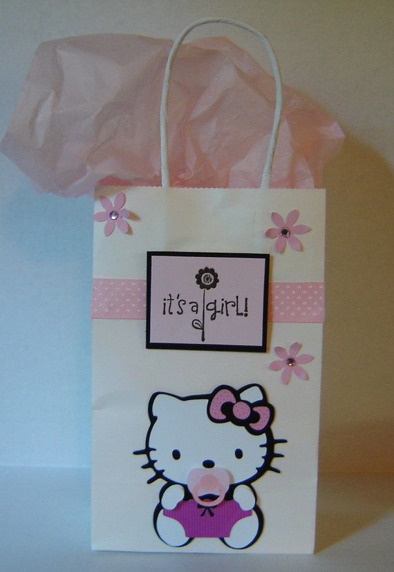 hello kitty baby shower gift bag by cricflix on etsy