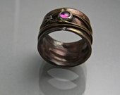 Jeweled Copper Ring  Make a Wish
